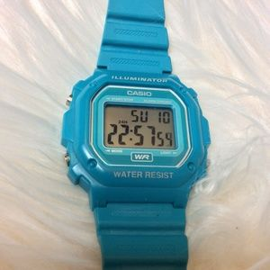 Casio Accessories - ❌SOLD!❌ Turquoise Green Hipster Casio Watch